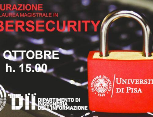 Inaugurazione Laurea Magistrale in Cybersecurity a Pisa