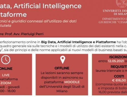 Big Data, Artificial Intelligence e Piattaforme